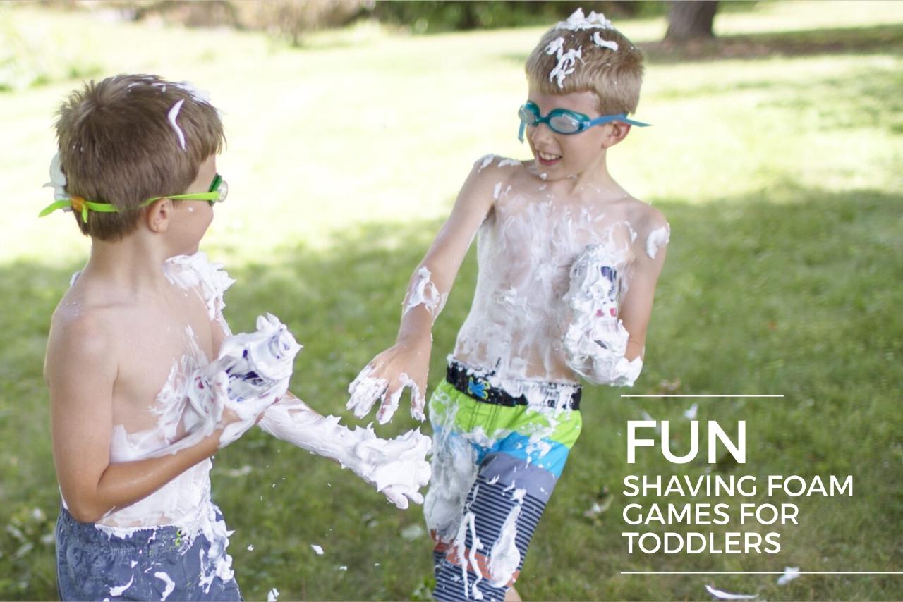 Fun shaving foam games for toddlers2