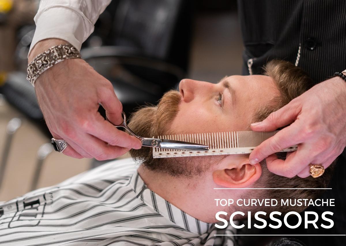 Top Curved mustache scissors