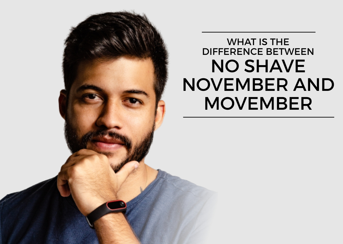 What is the difference between no shave november and movember