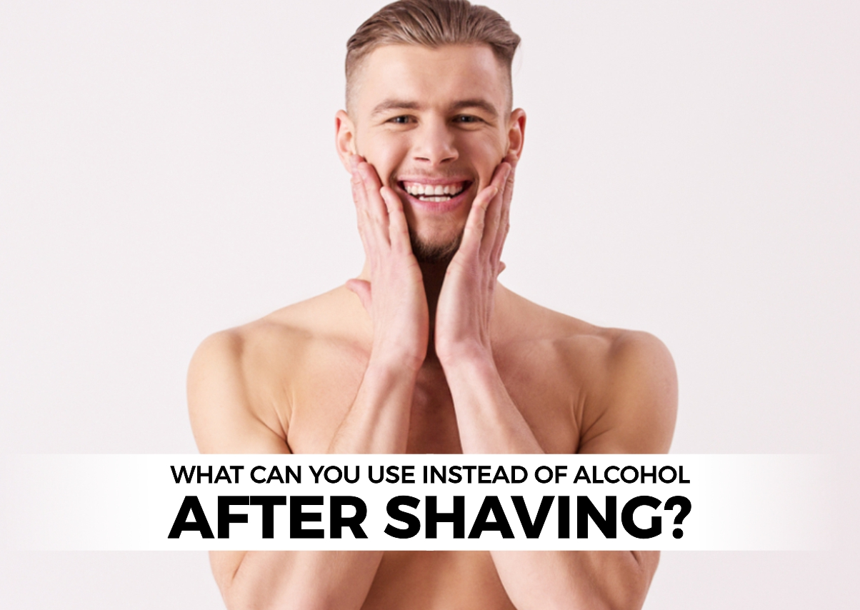 What can you use instead of alcohol after shavin